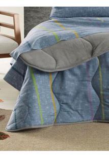 Edredom Casal Altenburg New Confort Cinza/Azul