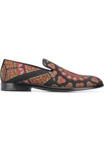 Dolce & Gabbana Slipper Com Estampa - Preto