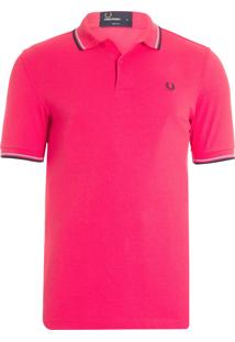 Camiseta Masculina Fit Twin Tipped - Vermelho