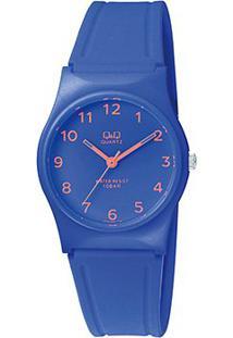 Relógio Qq De Pulso Analógico Vp34J066Y Feminino - Feminino-Azul