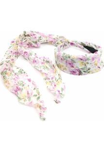 Tiara Bijoulux Floral Branca - Tricae