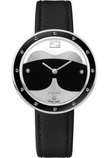 b2e2552e633 ... Fendi Relógio Com Aplicações De Pele - Preto