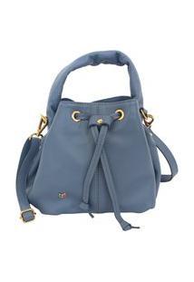 Bolsa Shape Legítimo Azul Jeans Premium Feminina Atz 13