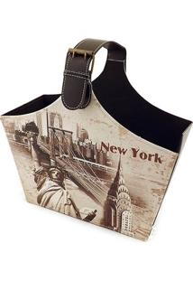 Revisteiro New York Alça Larga Fullway - 40X37 Cm