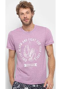 Camiseta Sommer Champion Masculina - Masculino-Roxo