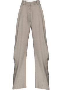 Eftychia Calça Pantalona - Cinza