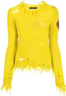 Etro Distressed Knit Jumper - Amarelo