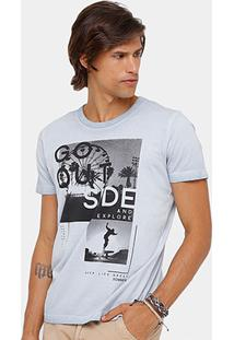 Camiseta Sommer Tinturada Explore Masculina - Masculino-Cinza