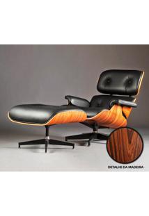Poltrona E Puff Charles Eames - Madeira Pau Ferro