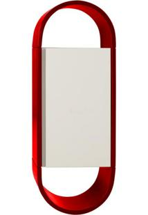 Armário Para Banheiro Wish 1 Pt Vermelho E Branco
