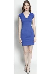 Vestido Com Recortes - Azul Escuro- Moiselemoisele