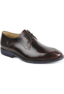 Sapato Social Derby Polo State - Masculino-Vermelho