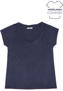 Blusa Feminina Básica Com Modelagem Comfort Em Malha