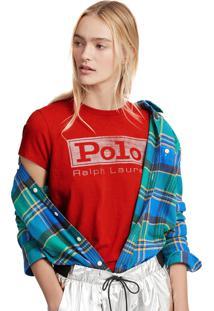 Camiseta Polo Ralph Lauren Reta Vermelha