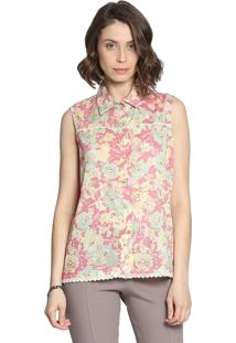 Camisa Sem Manga Energia Fashion Rosa
