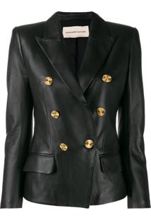 Alexandre Vauthier Embossed Button Jacket - Preto