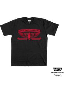 Camiseta Levis Masculino Skateboarding Graphic Collab - Masculino-Preto
