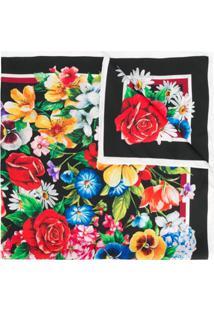Dolce & Gabbana Echarpe Com Estampa Floral - Preto