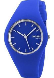 Relógio Feminino Skmei Analógico Feminino - Feminino-Azul