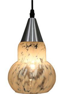 Pendente Em Vidro Para 1 Lâmpada Verona 19Cm Transparente Leitoso