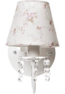 Arandela 1 Lâmpada Cristais Quarto Bebê Infantil Menina Menino Potinho De Mel Rosa