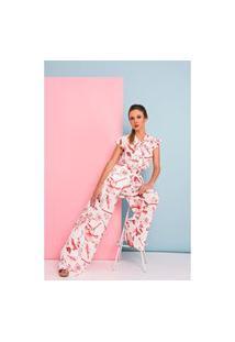 Calça Pantalona Fluida Crepe– Estampado Calça Pantalona Fluida Crepe– Bicsred (P)