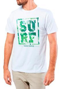 Camiseta Masculina Sandro Clothing Surf Tropical Branca