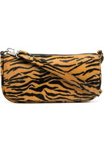 By Far Bolsa Tiracolo Animal Print - Laranja