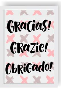 Quadro Love Decor Decorativo Gracias!