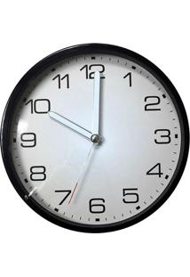 Relógio De Parede Flat Numbers- Branco & Preto- Ø30Xurban
