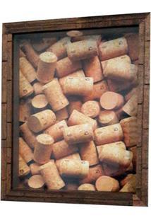 Quadro Porta Rolhas 24X30X4,5Cm Delta
