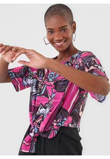 Camiseta Lança Perfume Amarração Rosa