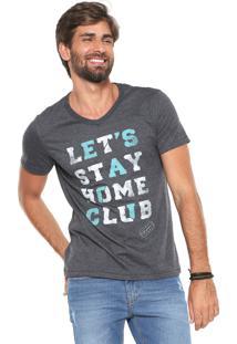 Camiseta Hering Home Club Grafite