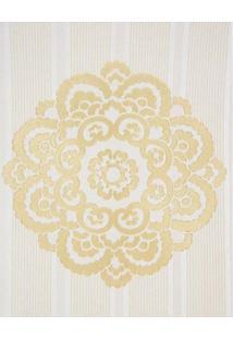 Papel De Parede Vinílico Lavável Maya Wallpaper 0,53 X 10M Listrado Marrom/Dourado