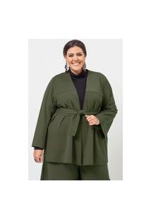 Jaqueta Ampla Almaria Plus Size Garage Faixa Verde