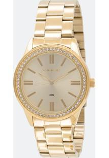 Kit Relógio Feminino Lince Lrg4341L Kt06C1Kx Analógico 3Atm + Conjunto Semijoia