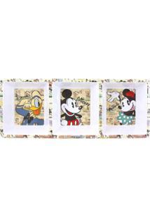 Petisqueira Em Melamina Retangular 3 Divisórias Galera Mickey Disney