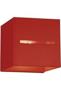 Arandela Interna Quadrada Laor Lisboa Em Alumínio Bivolt Com Soquete G-9 - Vermelha