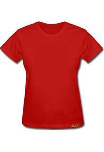 Camiseta Knt Baby Look - Feminino-Vermelho