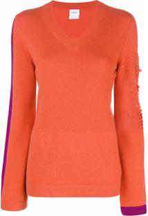 Barrie New Romantic Cashmere V-Neck Pullover - Amarelo