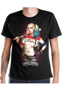Camiseta Dc Comics Bandup! Esquadrão Suicida Harley Quinn Bubble Gum - Masculino