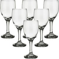 605608d19 Jogo Com 6 Taças Para Água E Vinho 300Ml Vidro Nadir Windsor - Unissex