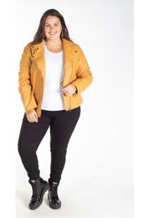 Jaqueta Biker Corino Plus Feminina - Feminino