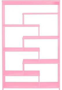 Estante 6 Prateleiras Escada Maxima Rosa Cristal