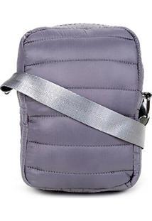 Bolsa Hering Mini Bag Matelassê - Feminino-Prata