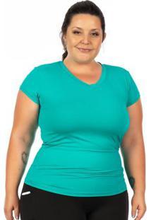 Blusa Plus Size Com Proteção Uv Verde Janfer
