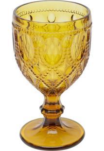 Conjunto 6 Taças De Vidro Para Água 290 Ml Diamond Ambar - Bon Gourmet - Ambar