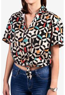 Camisa Geometric Color 800060