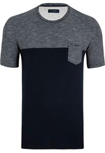 Camiseta Composition Marinho Listras