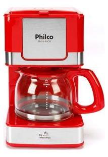 Cafeteira Elétrica Philco Ph16 - Vermelho/Aço Escovado